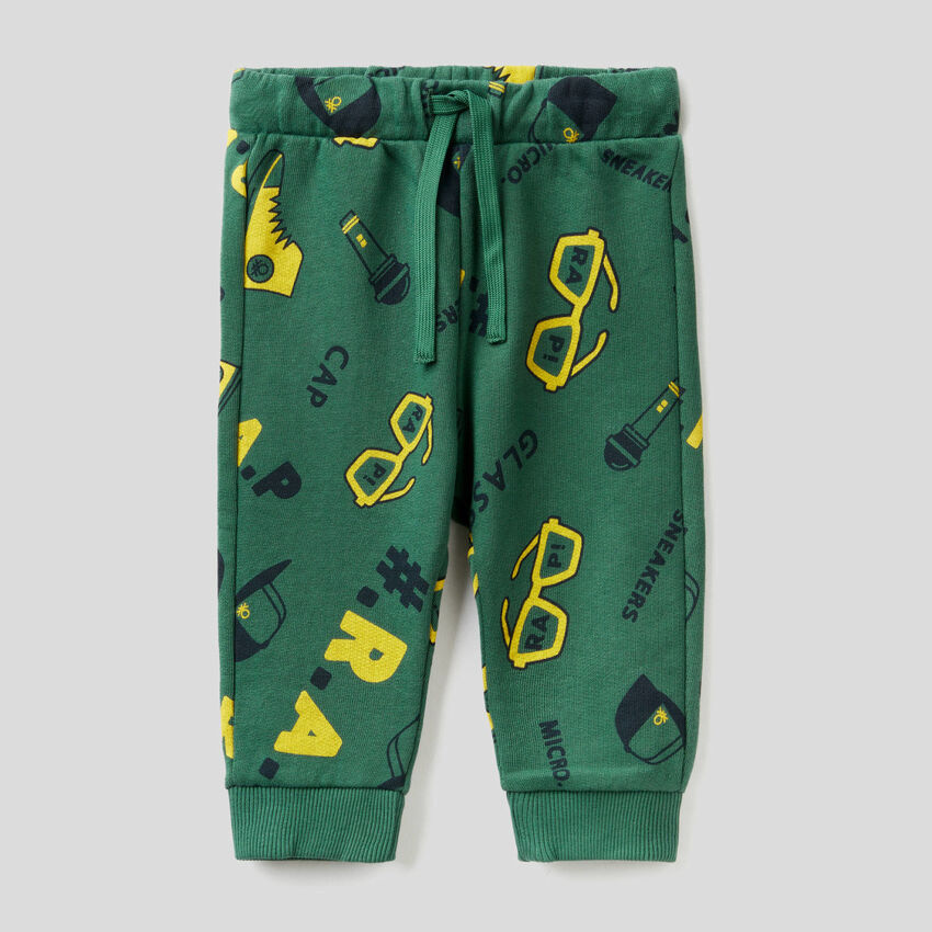 Pantaloni fantasia in felpa