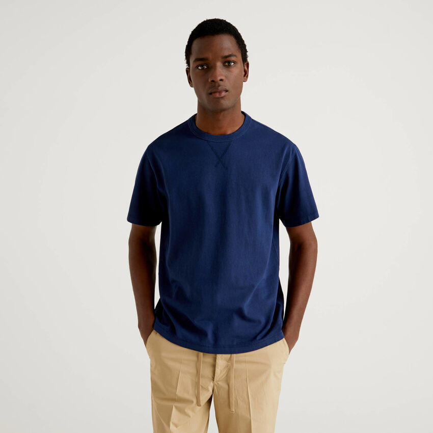 T-shirt girocollo in puro cotone