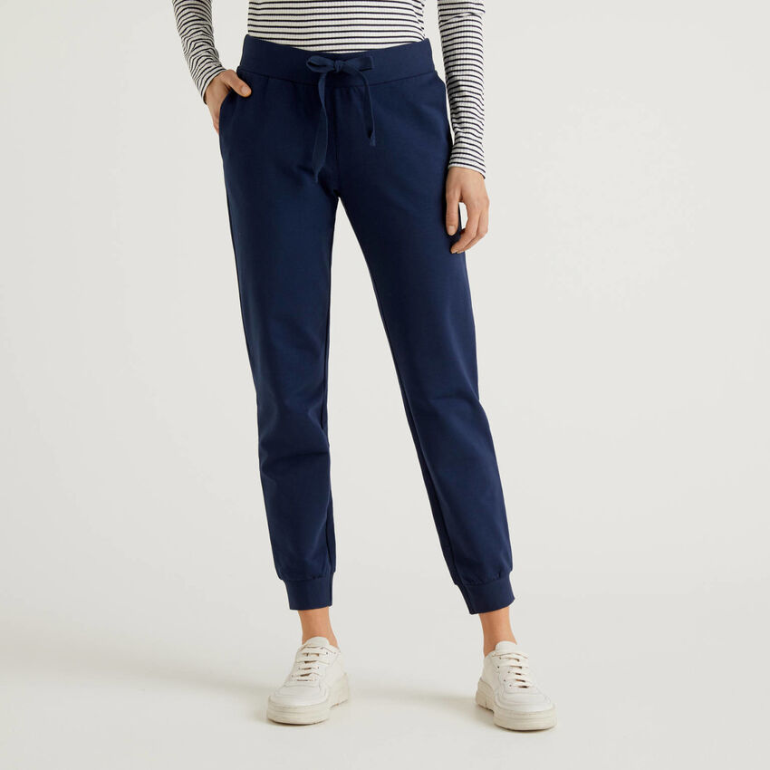 Pantaloni in felpa di cotone stretch
