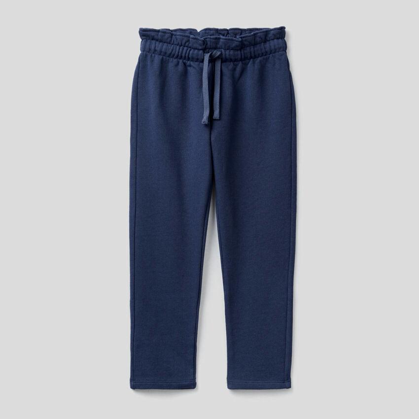 Pantaloni in felpa con vita arricciata