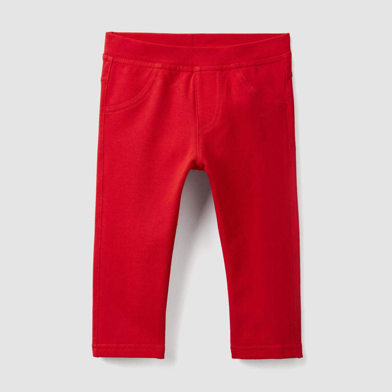 Pantaloni in felpa stretch