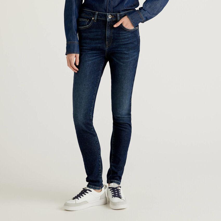 Jeans skinny fit con vita alta