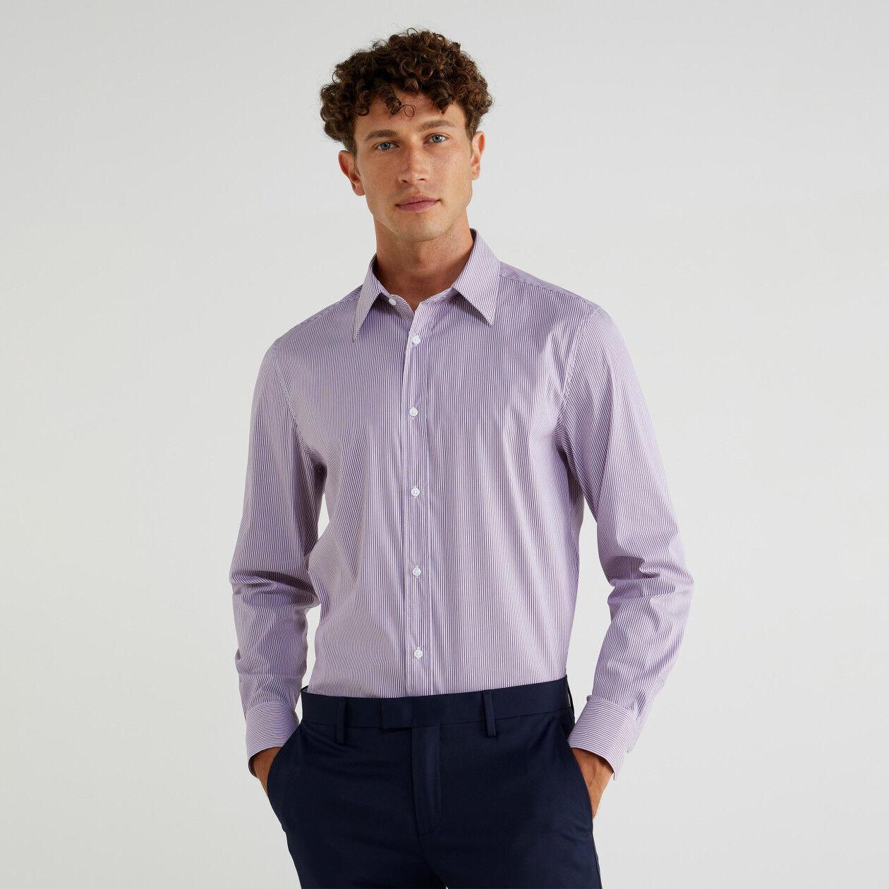 Camicia tinto filo slim fit