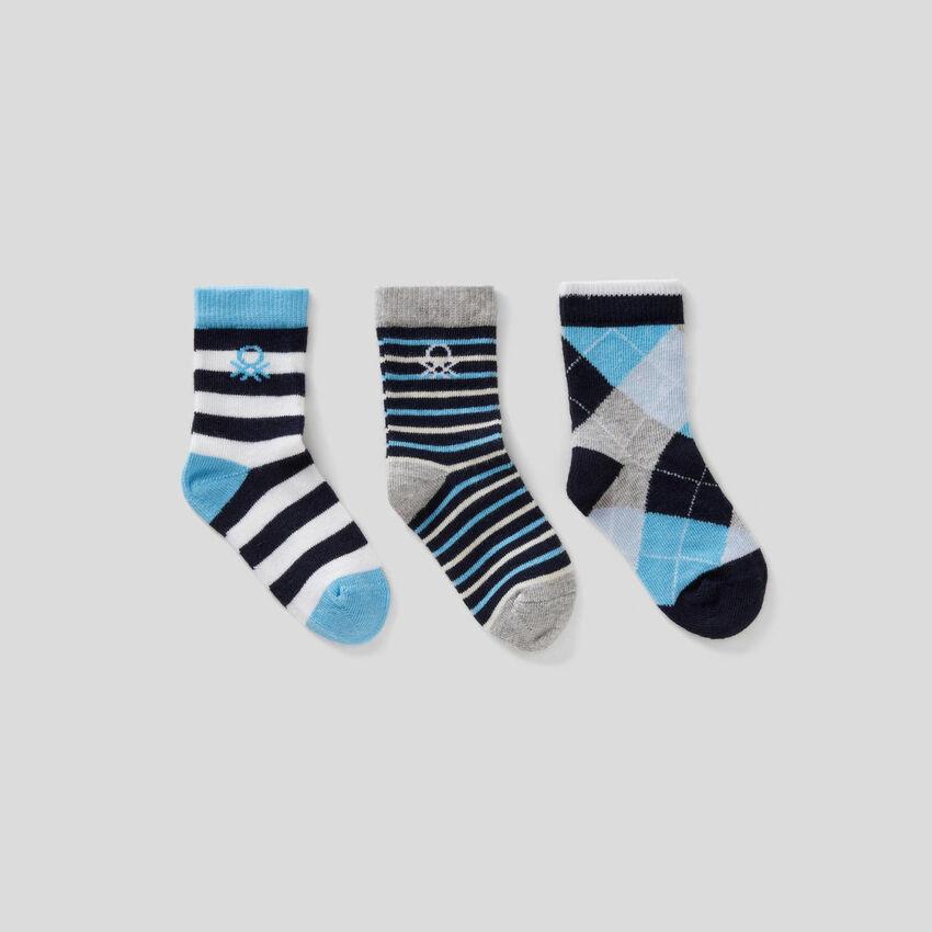 Set calzini dai toni blu