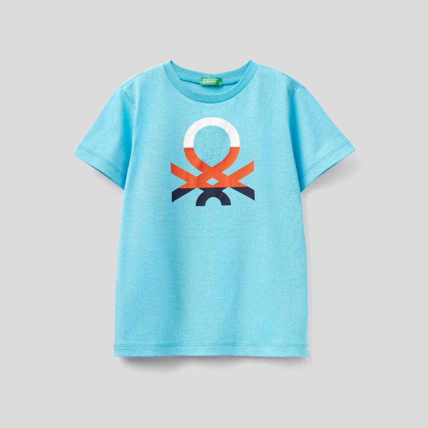 T-shirt 100% cotone con stampa