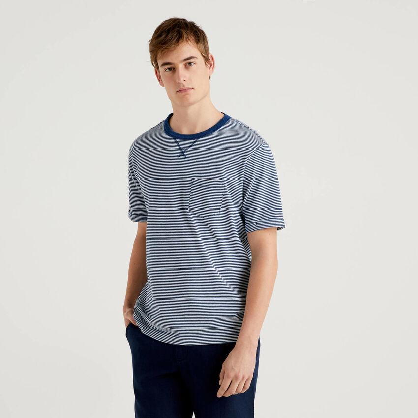 T-shirt 100% cotone con effetto vissuto