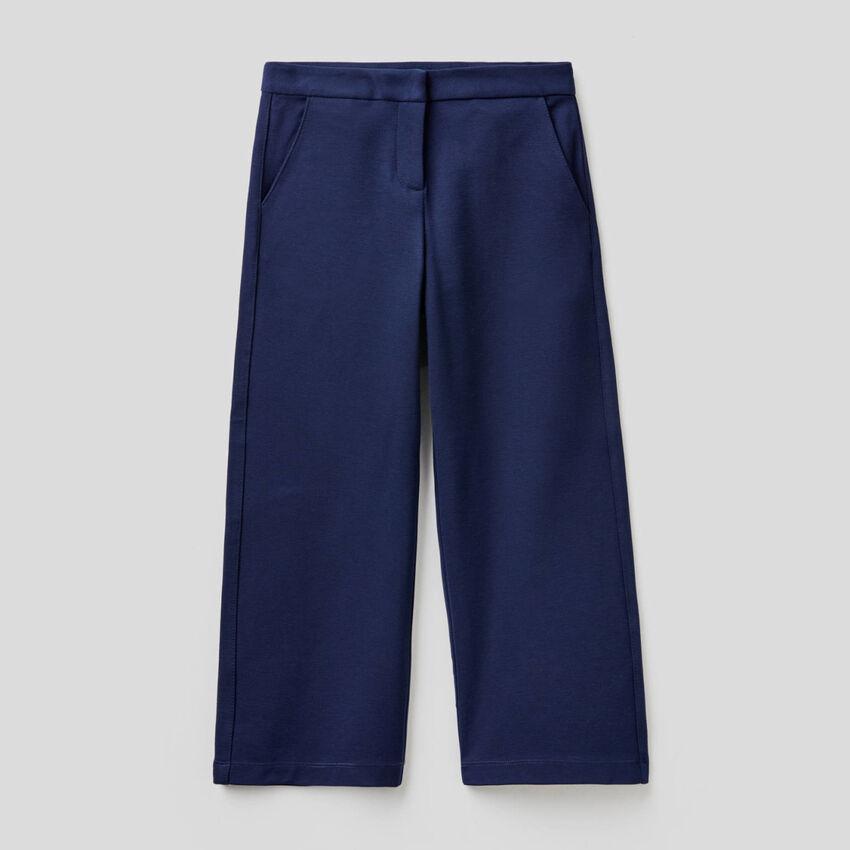 Pantaloni a palazzo tinta unita