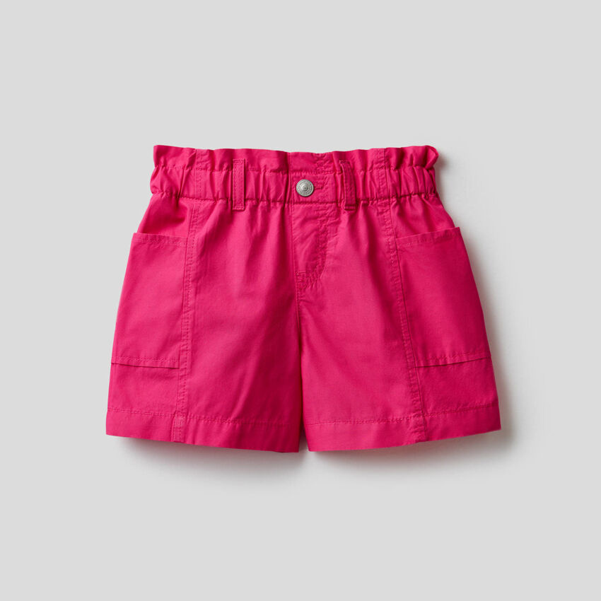 Shorts paperbag 100% cotone