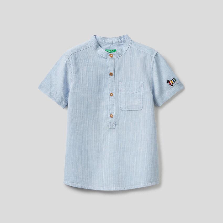 Camicia a manica corta 100% cotone