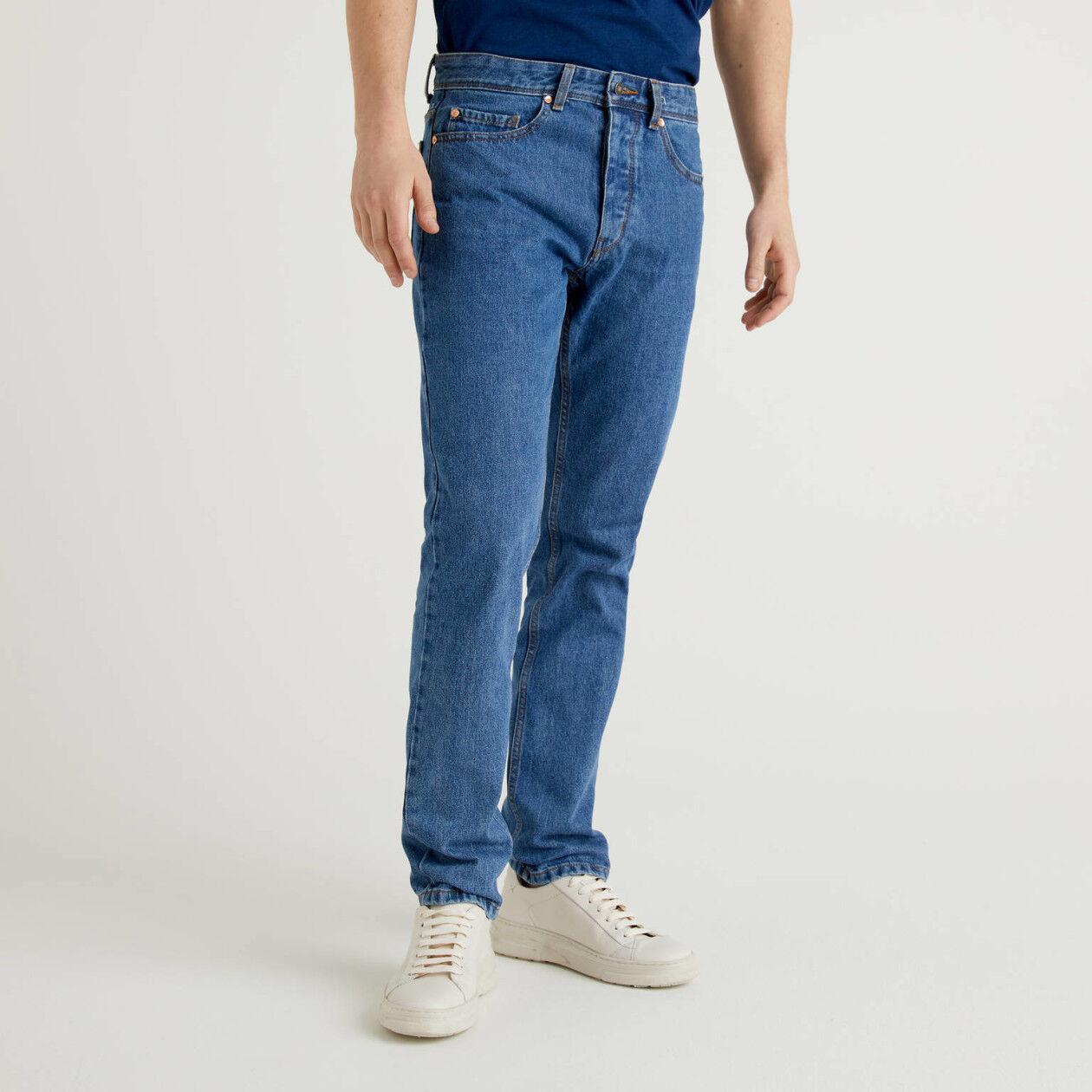 Jeans straight leg 100% cotone