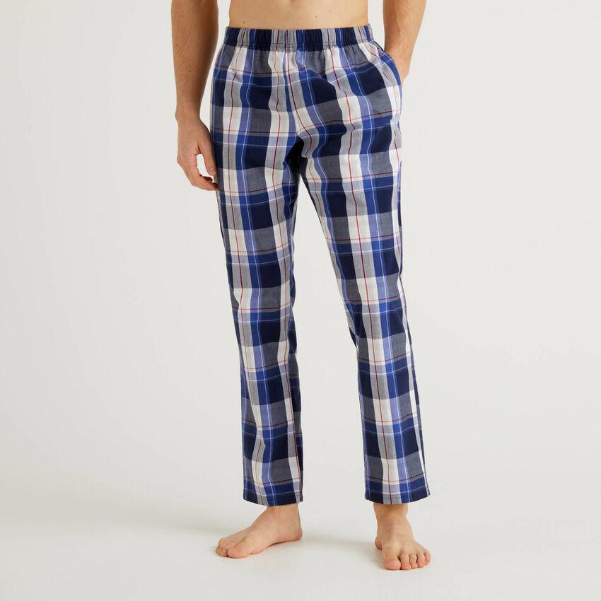 Pantaloni a quadri in cotone