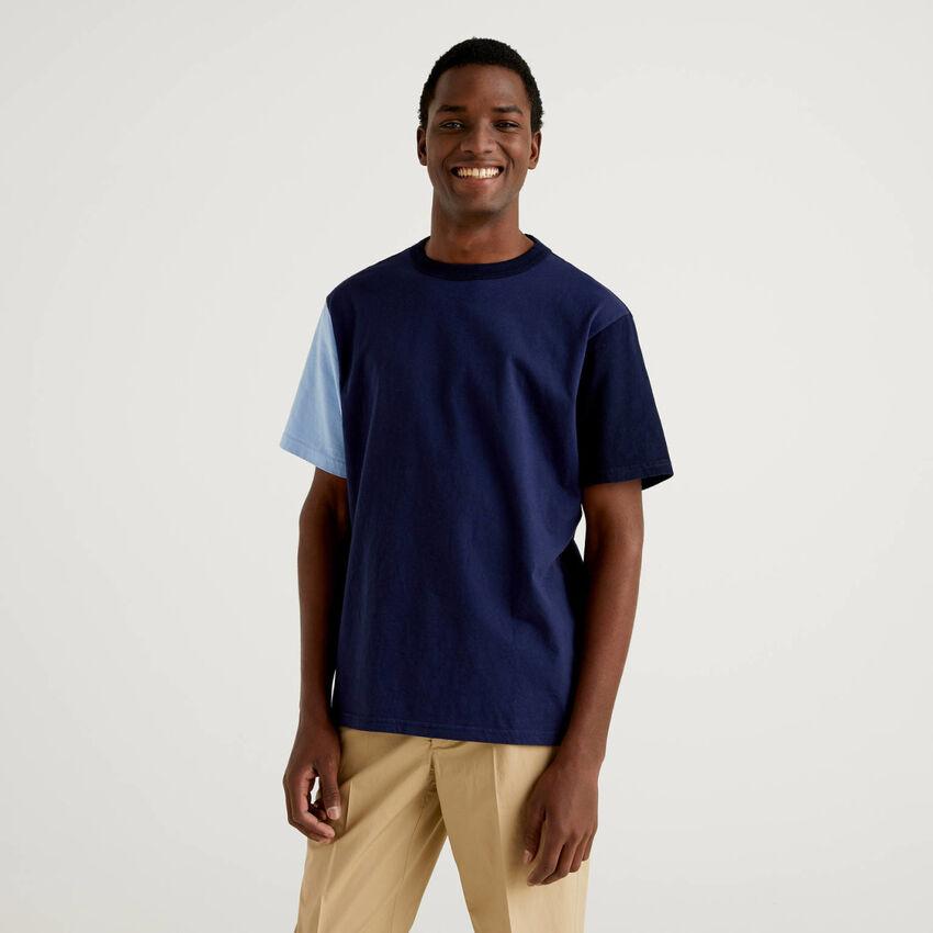 T-shirt color block a manica corta