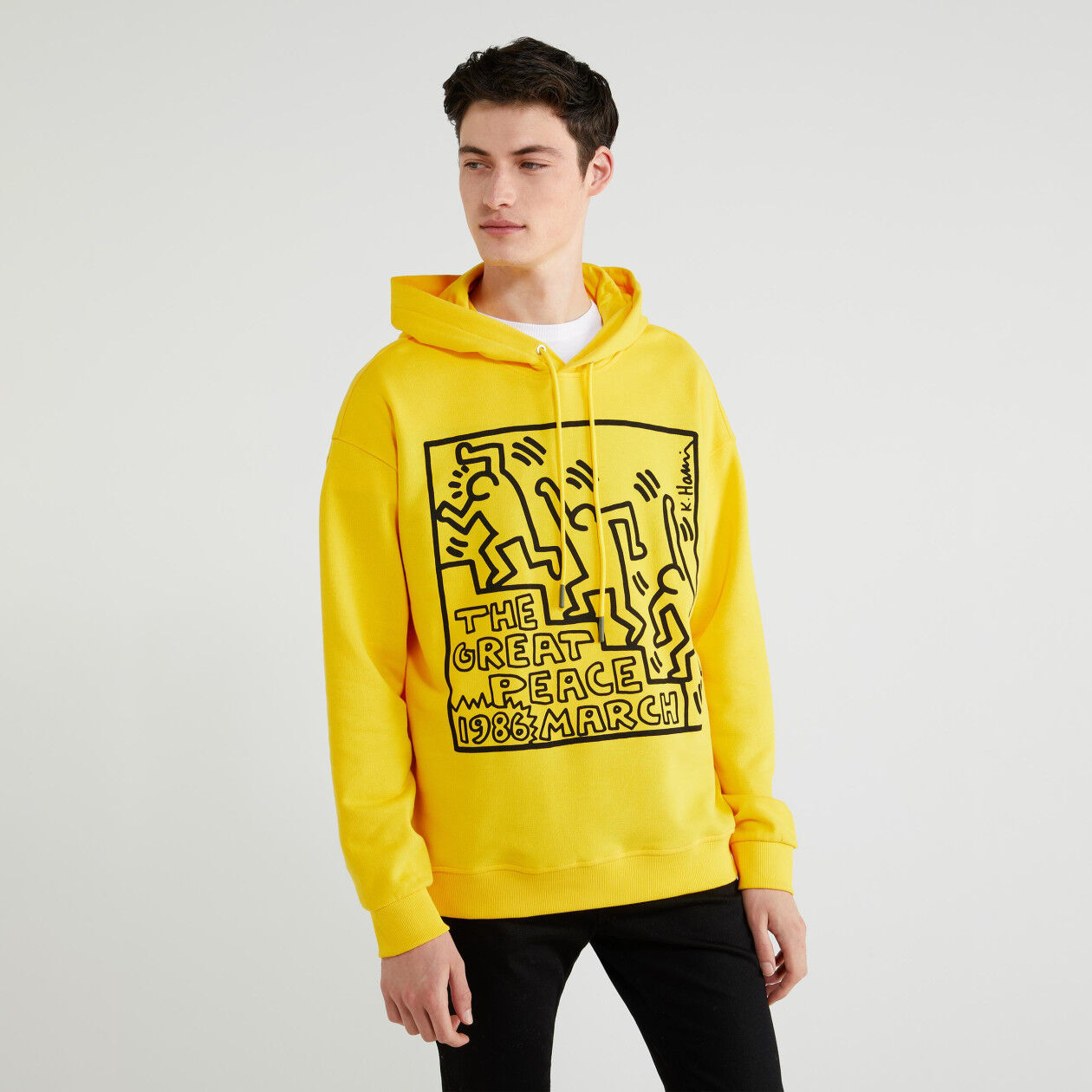 """Felpa """"Keith Haring"""" con cappuccio"""