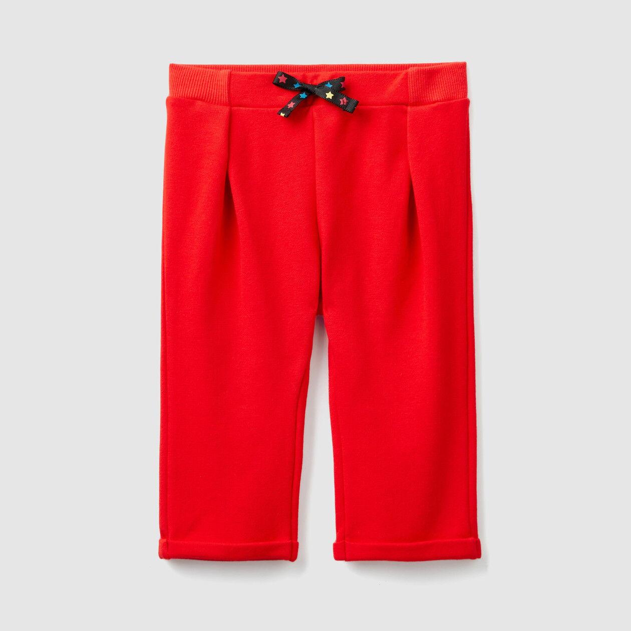 Pantaloni in felpa con risvolto