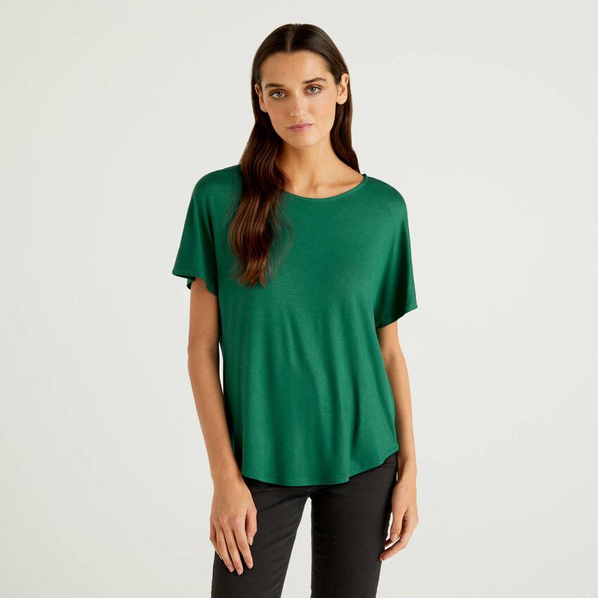 T-shirt in viscosa sostenibile stretch