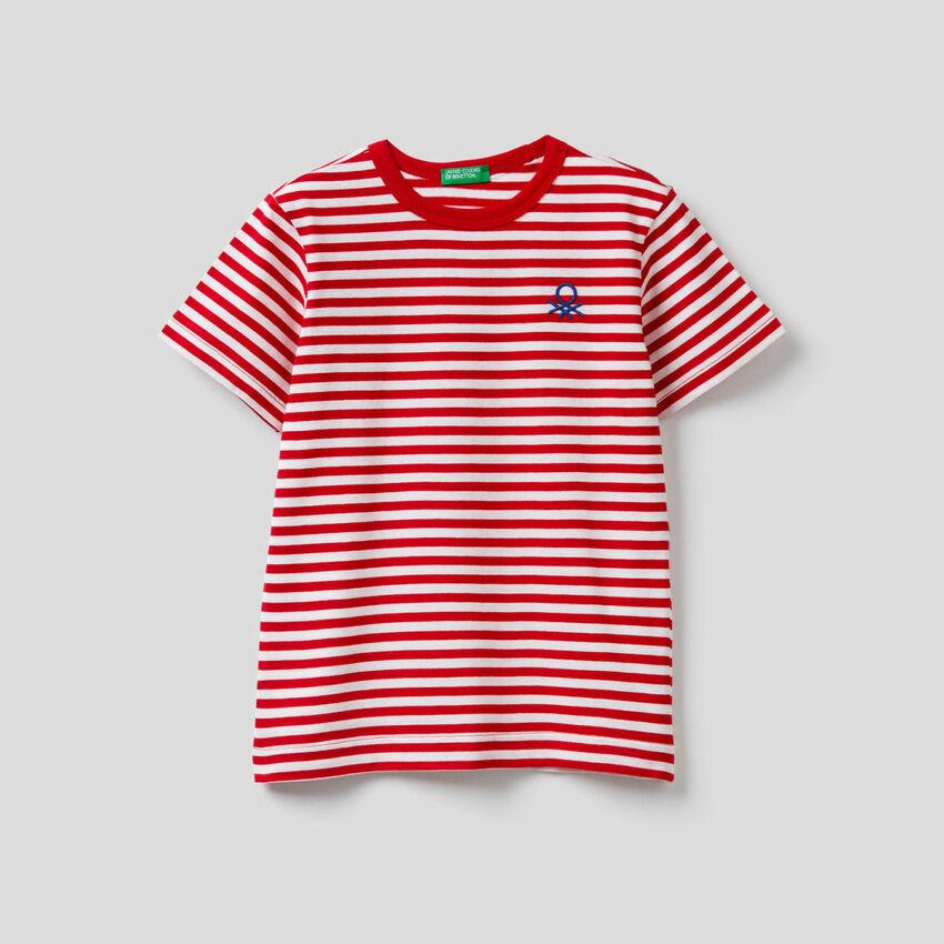 T-shirt a righe 100% cotone