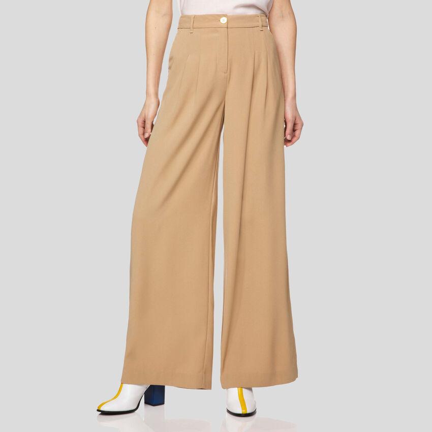 Pantaloni ampi in crêpe
