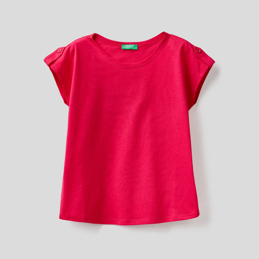 T-shirt tinta unita 100% cotone
