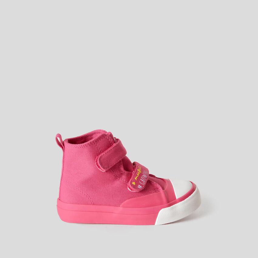Sneakers alte con chiusura a strappo