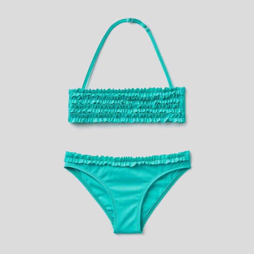 Bikini in ECONYL® con rouches