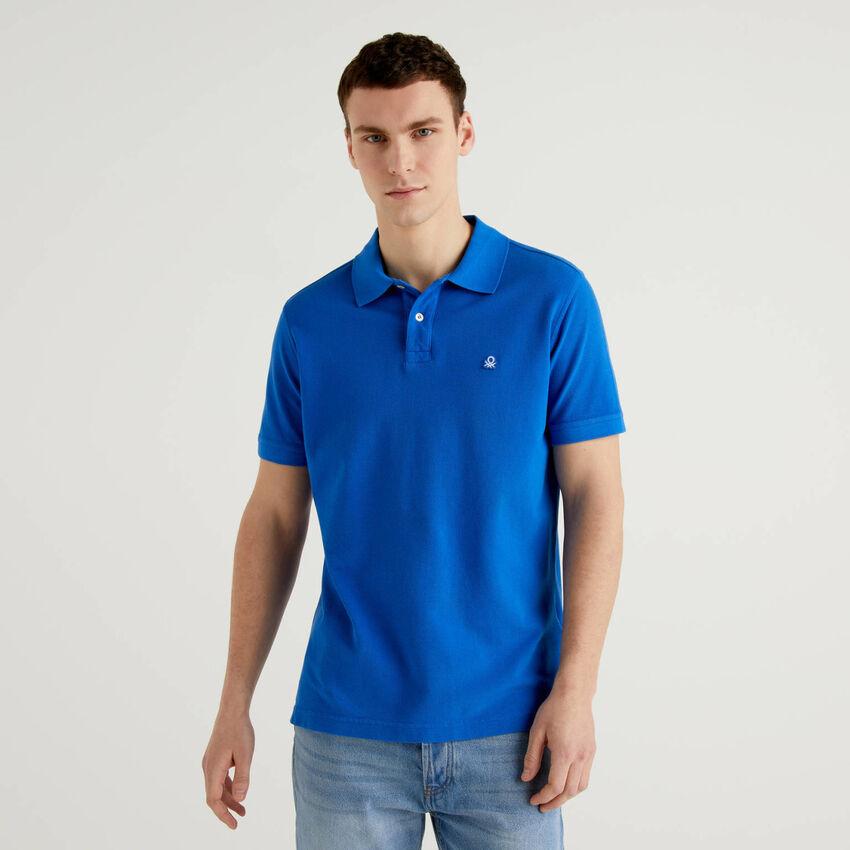 Polo regular fit bluette