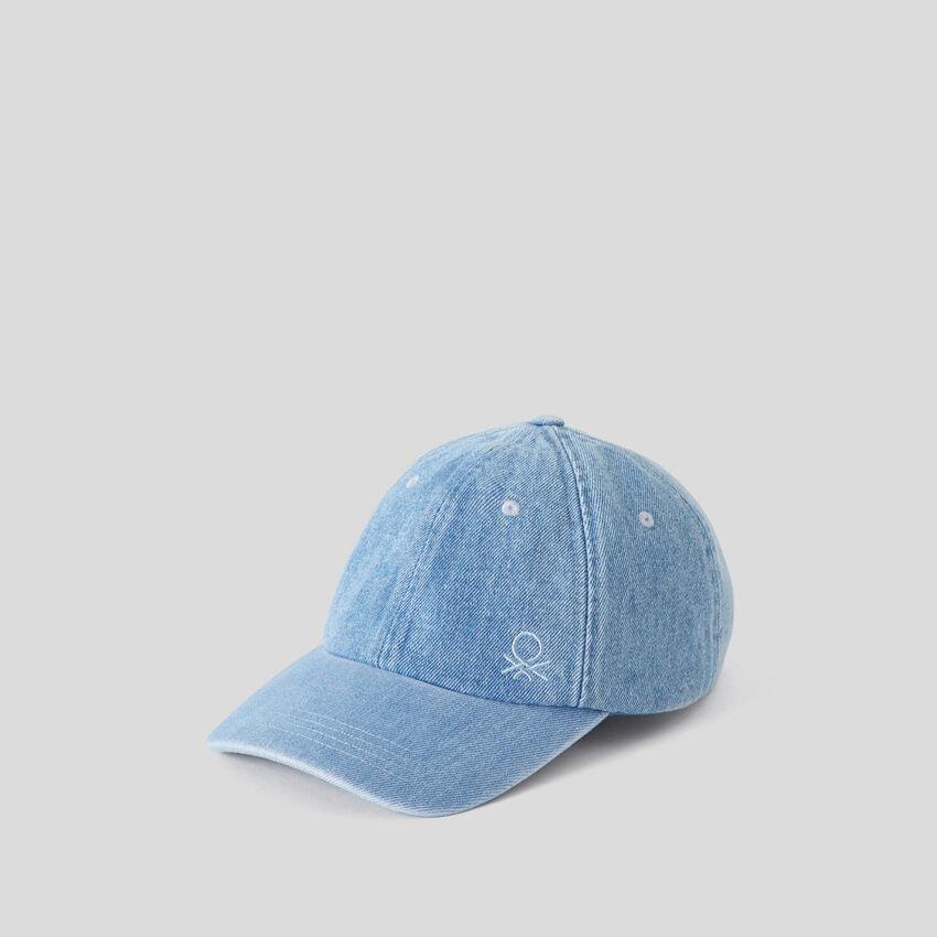 Cappellino in denim