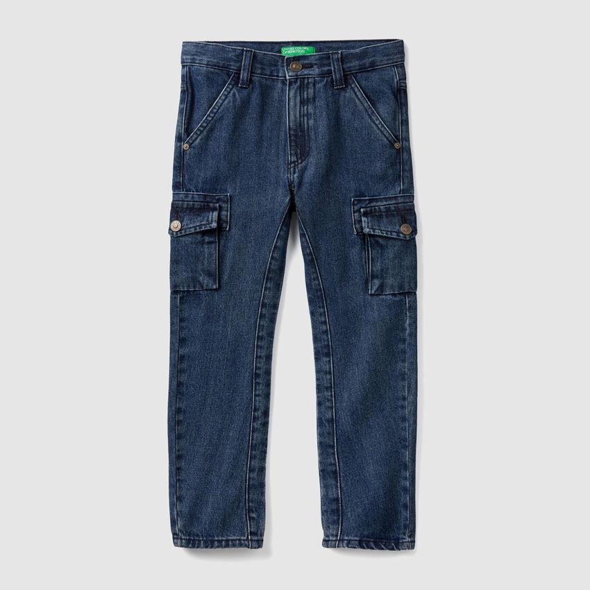 Pantaloni cargo in denim