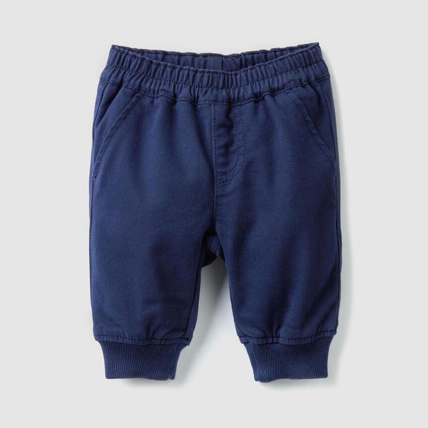 Pantaloni in raso stretch