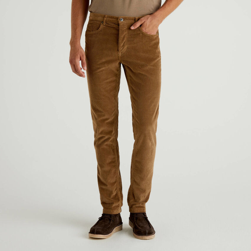 Pantaloni in velluto a righe