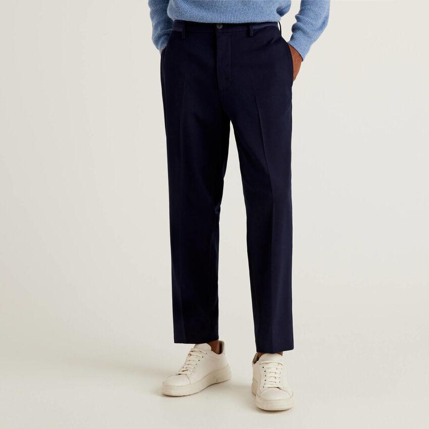 Pantaloni tinta unita con coulisse