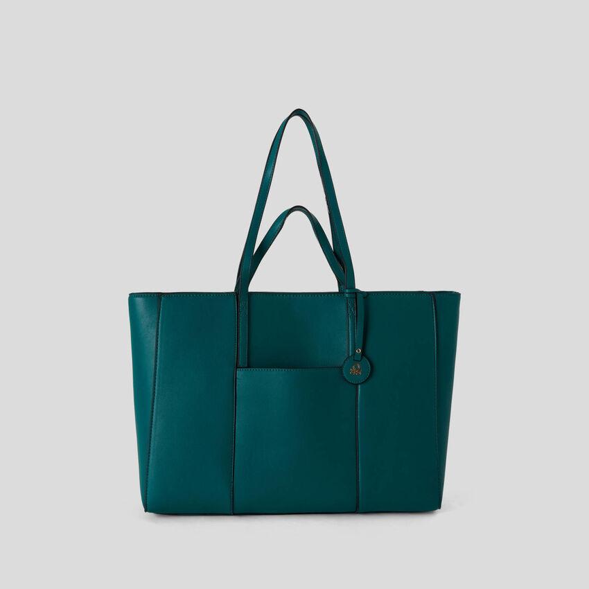 Shopping bag con doppi manici