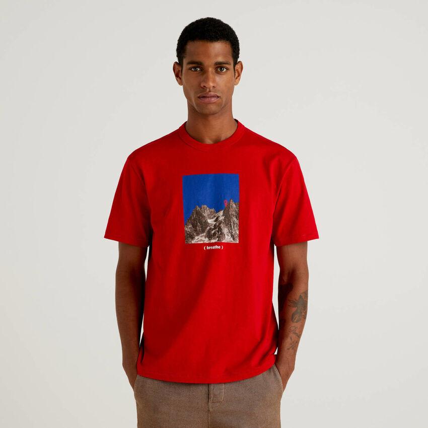 T-shirt 100% cotone bio con stampa