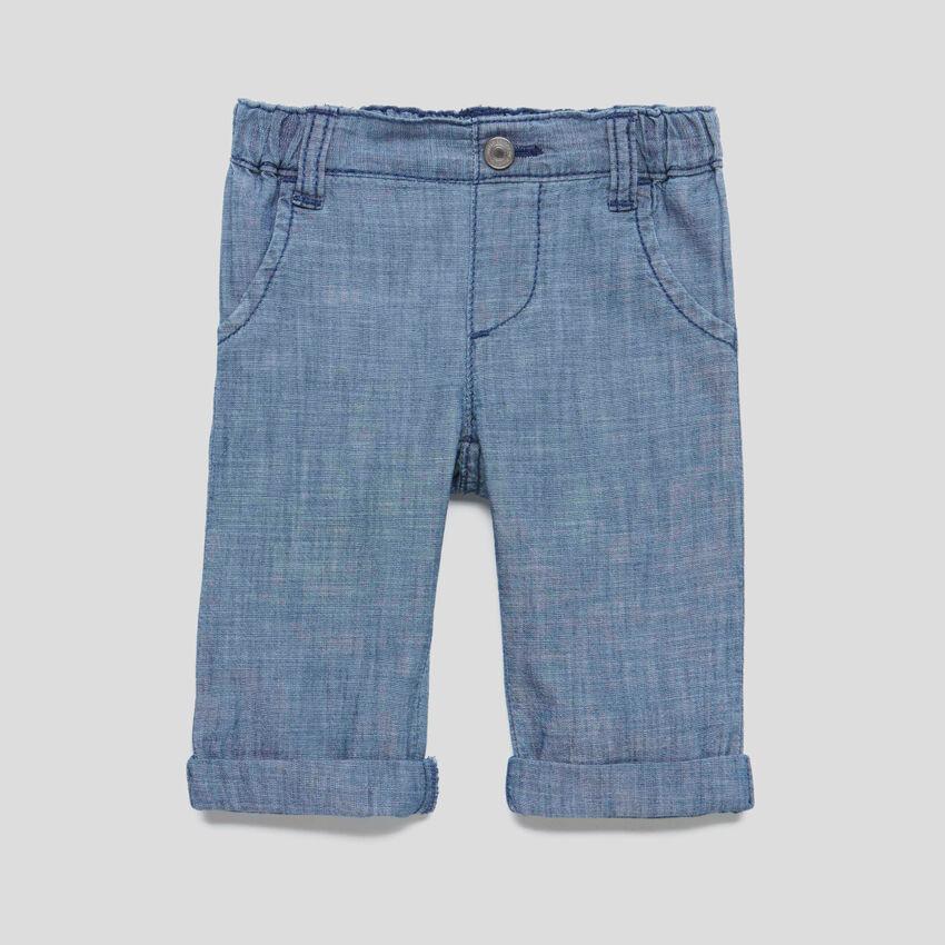 Pantaloni in chambray