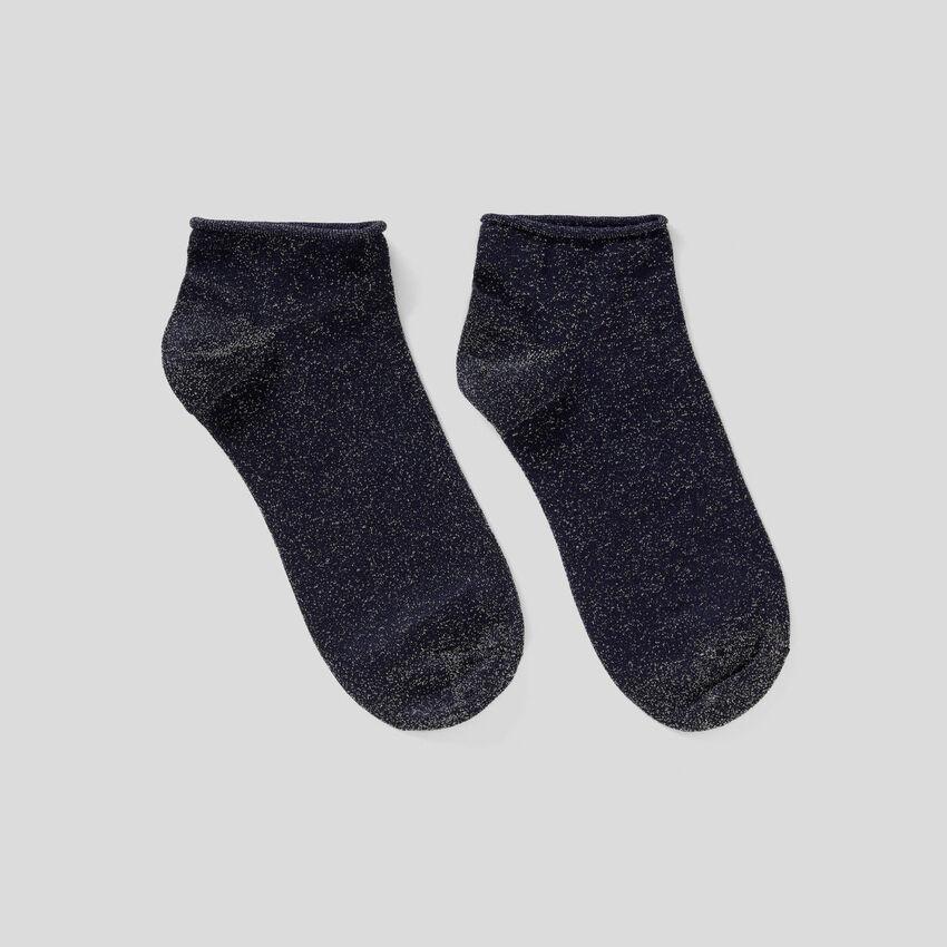 Calzini corti con lurex