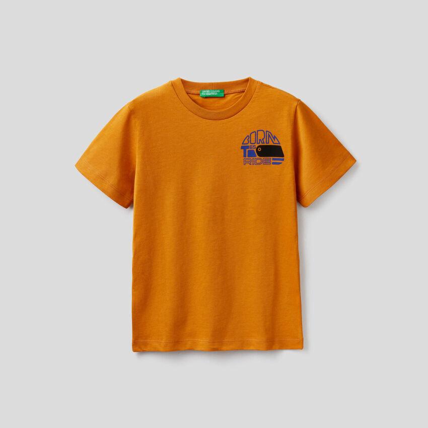 T-shirt manica corta in cotone biologico