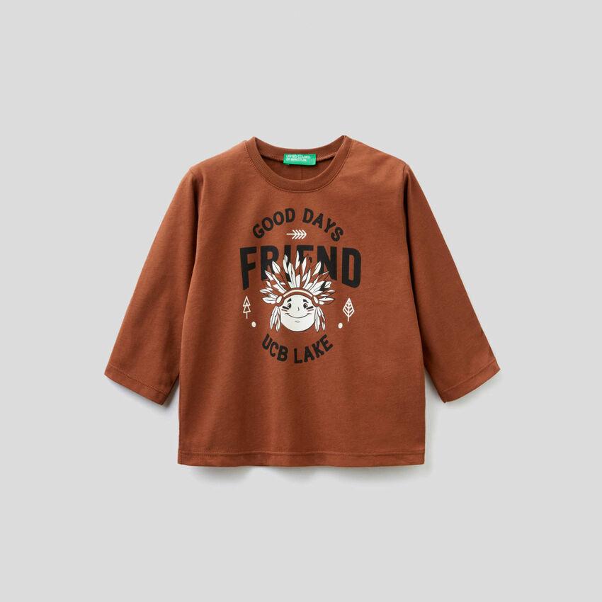 T-shirt in cotone bio con stampa