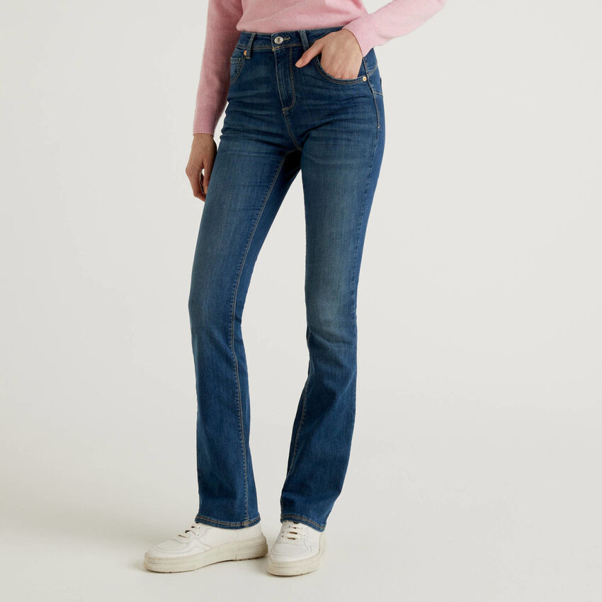Jeans bootcut push up