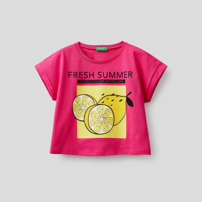 T-shirt boxy con stampa
