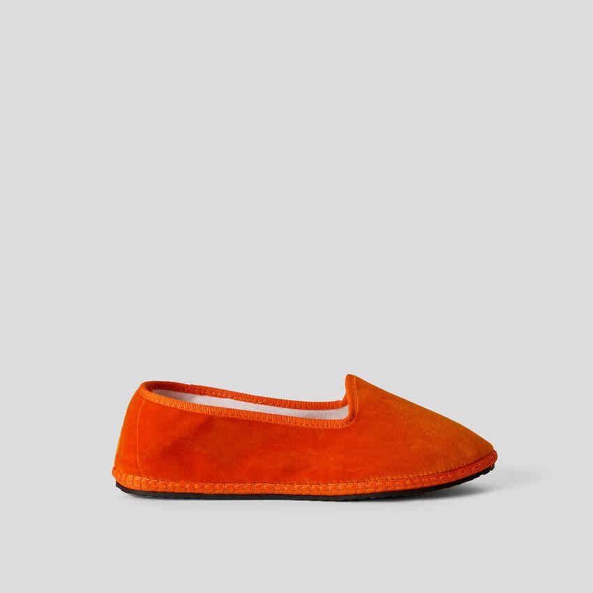 Friulane arancioni in velluto