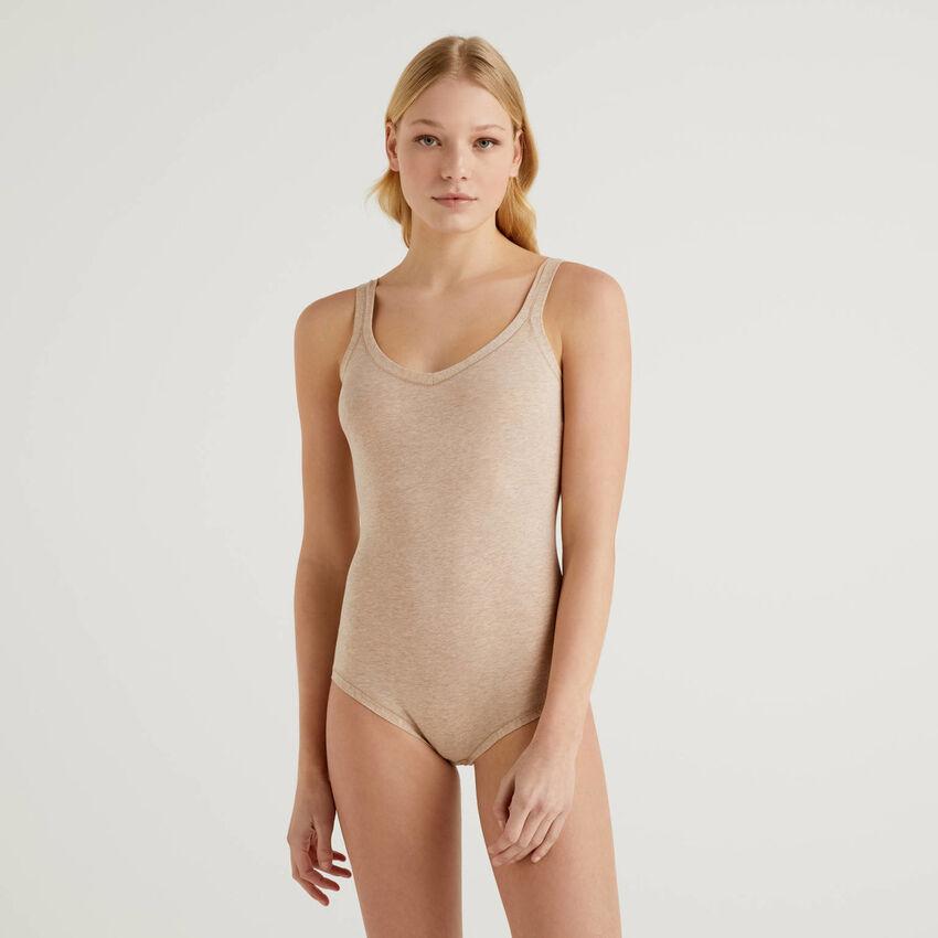 Body in cotone elasticizzato