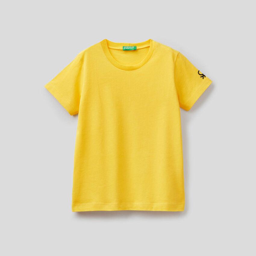 T-shirt in cotone biologico con stampa logo