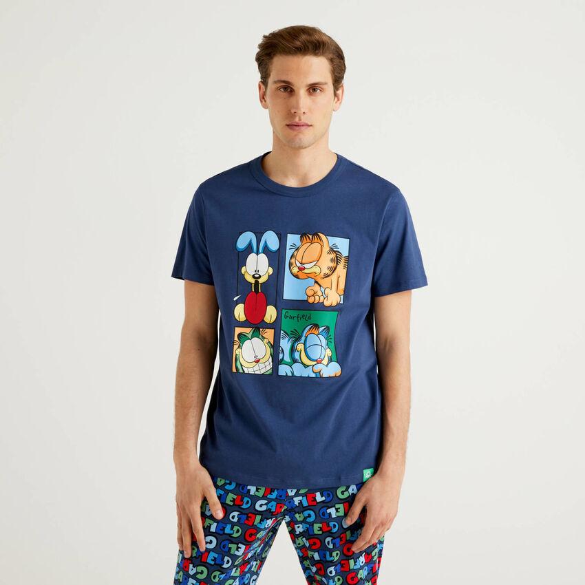 T-shirt Garfield in puro cotone