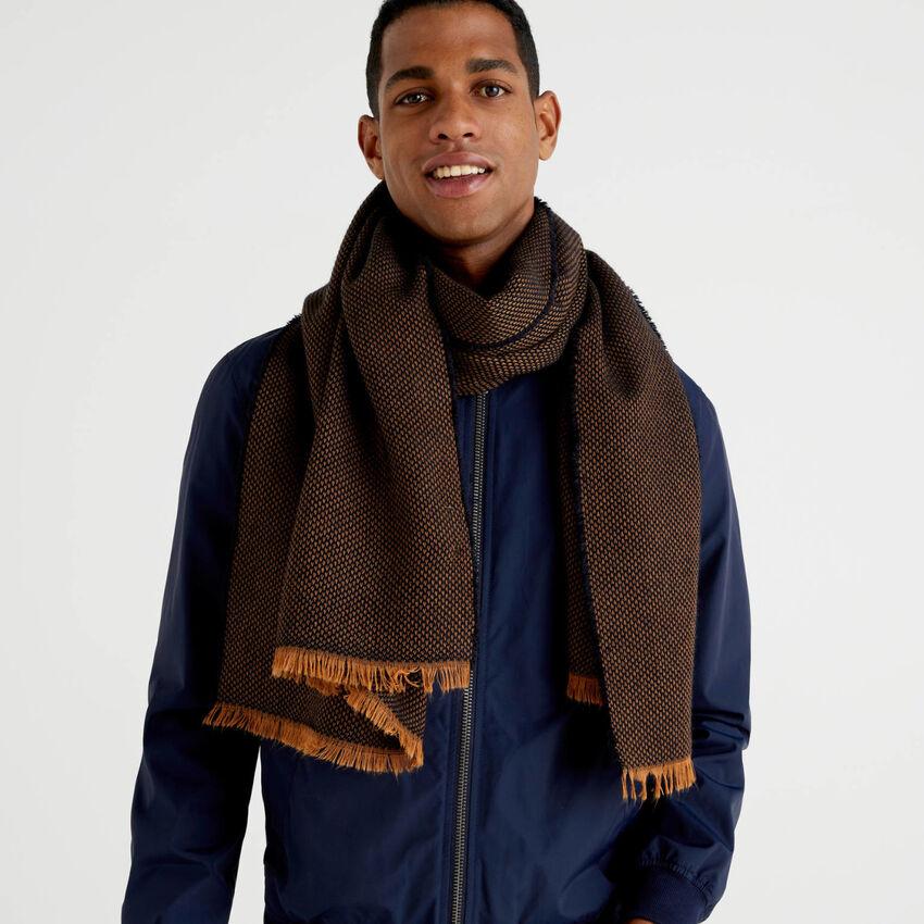 Sciarpa in misto lana e alpaca