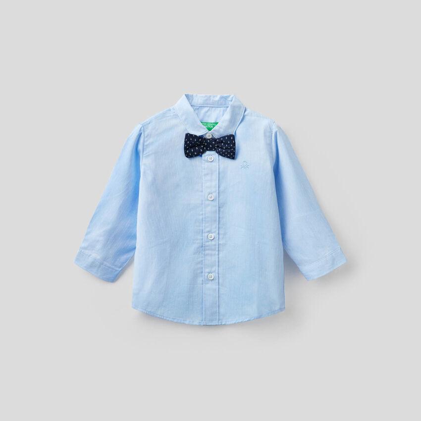 Camicia in cotone con papillon