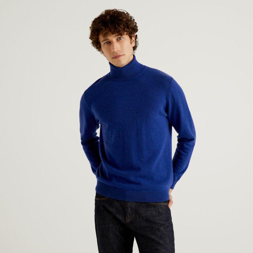 Dolcevita bluette in pura lana vergine