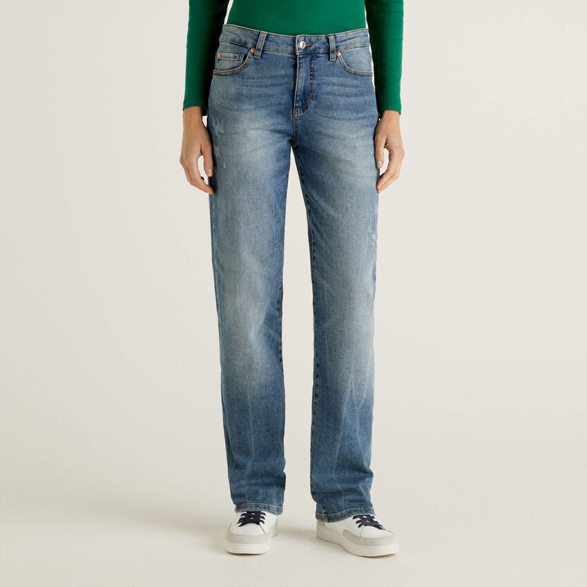 Jeans slim fit a gamba dritta