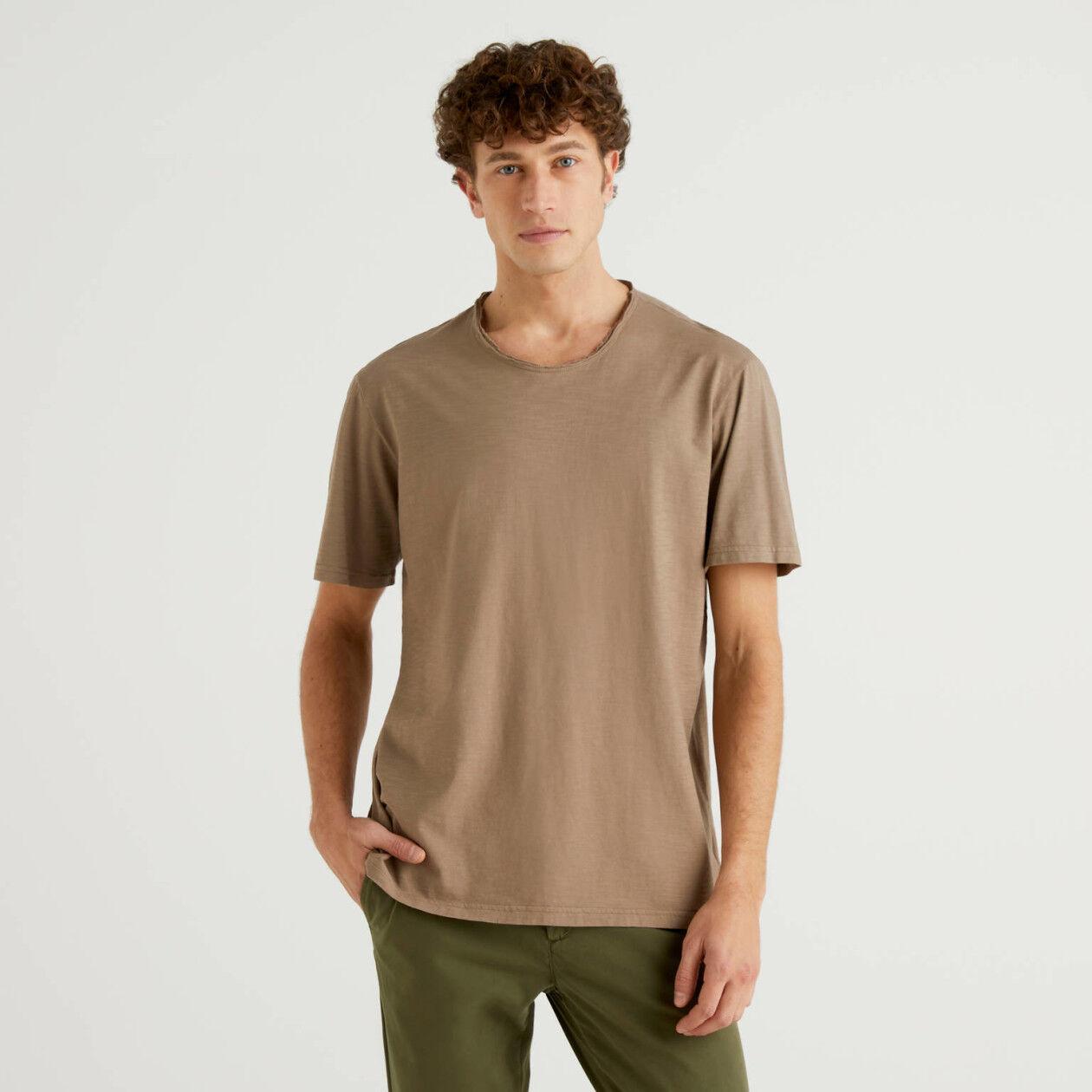 T-shirt grigio tortora in puro cotone