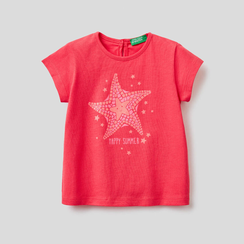 T-shirt in 100% cotone