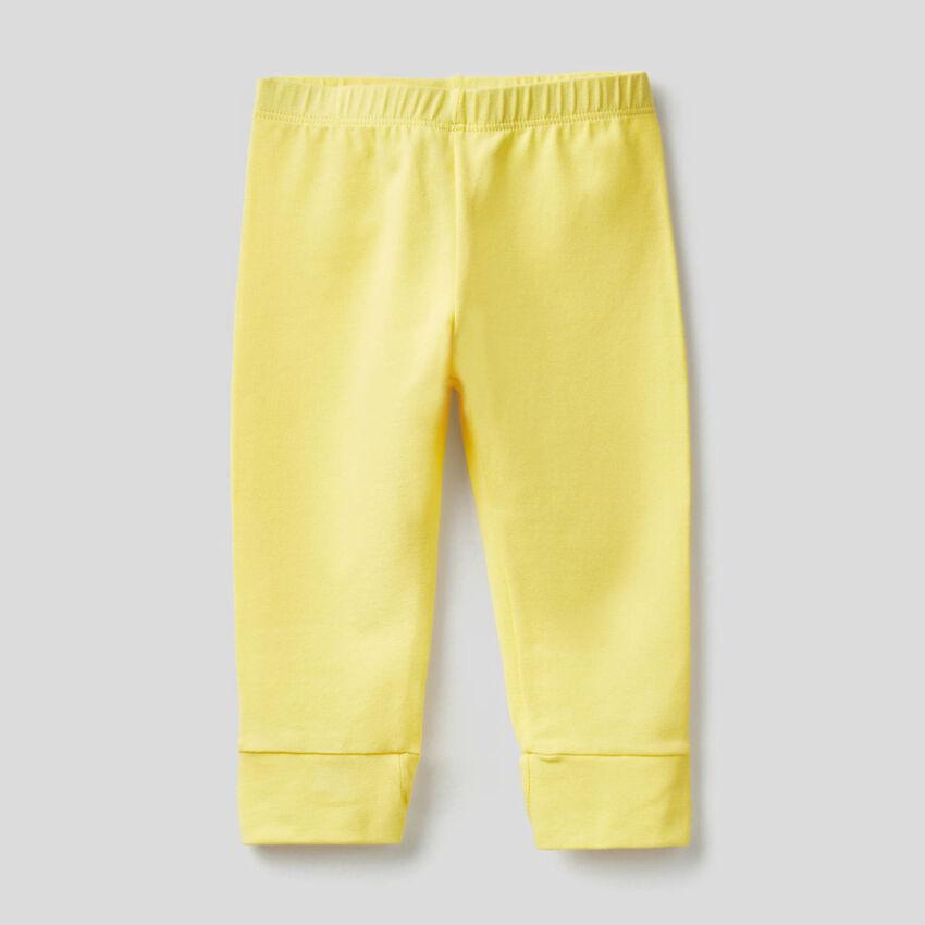 Leggings con fiocco in cotone stretch