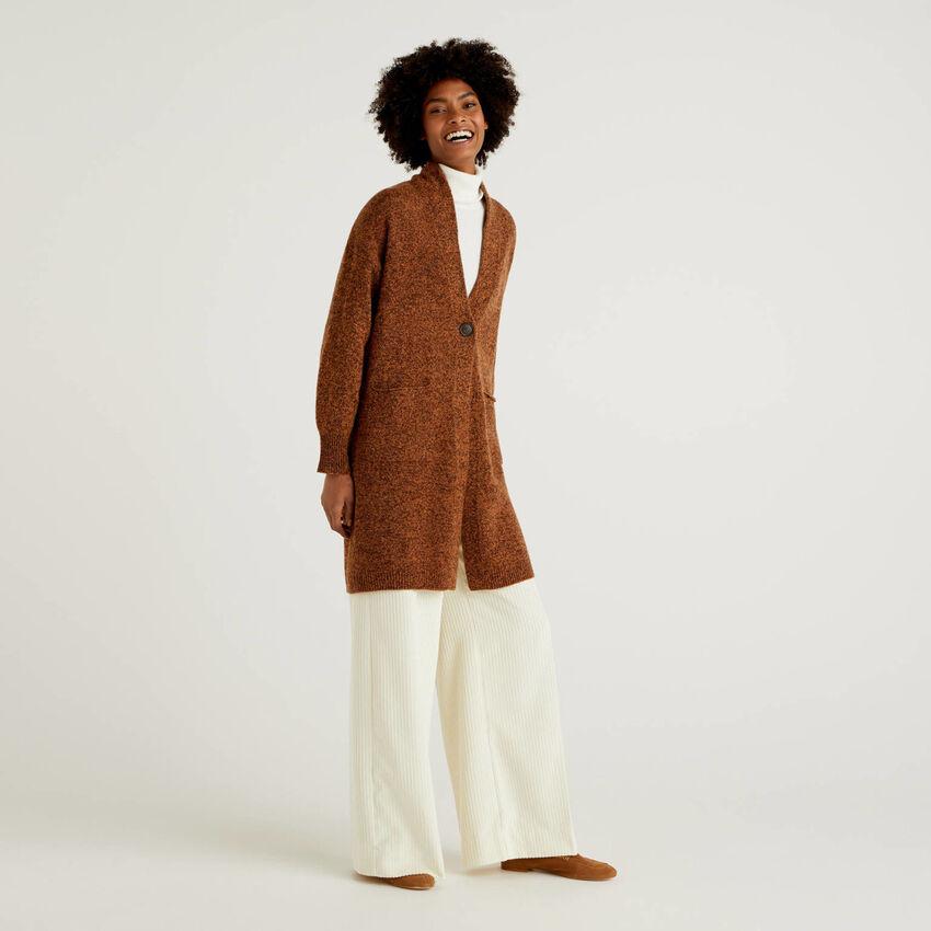 Cappotto in pura lana Shetland